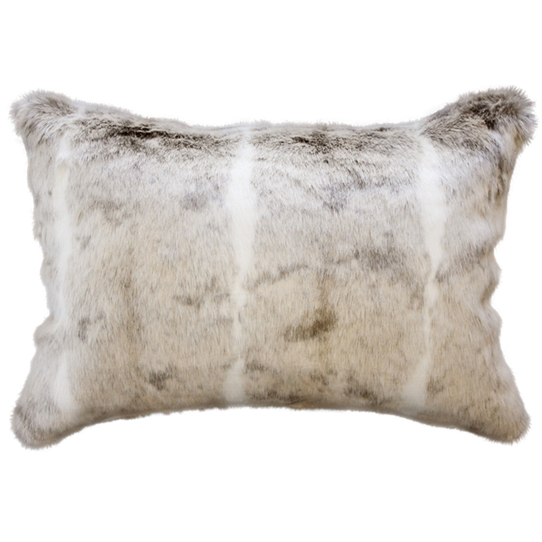 Heirloom Exotic Faux Fur Cushion / Throw - Mountain Rabbit image 2