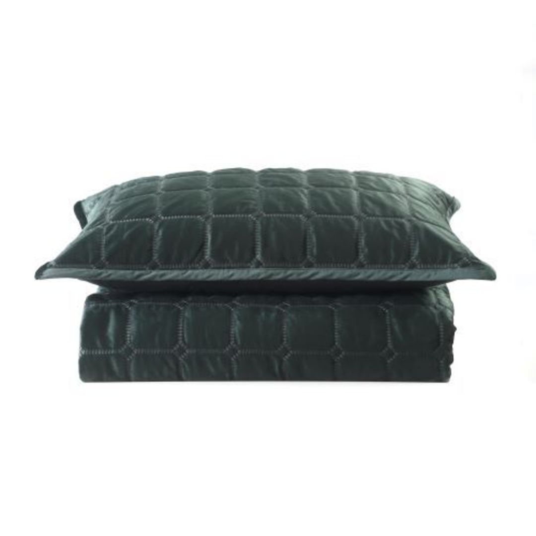 MM Linen - Meeka Sycamore Quilted Comforter Set / Eurocase Set image 1