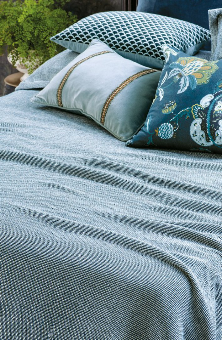 Bianca Lorenne - Sottobosco Bedspread / Pillowcase/Eurocase - Indigo image 0