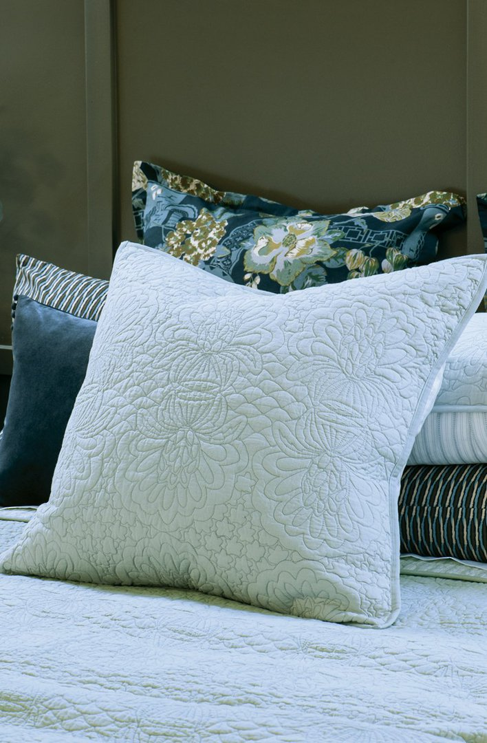Bianca Lorenne - Fontanella - Bedspread - Pillowcase and Eurocase Sold Separately - Duck Egg image 2
