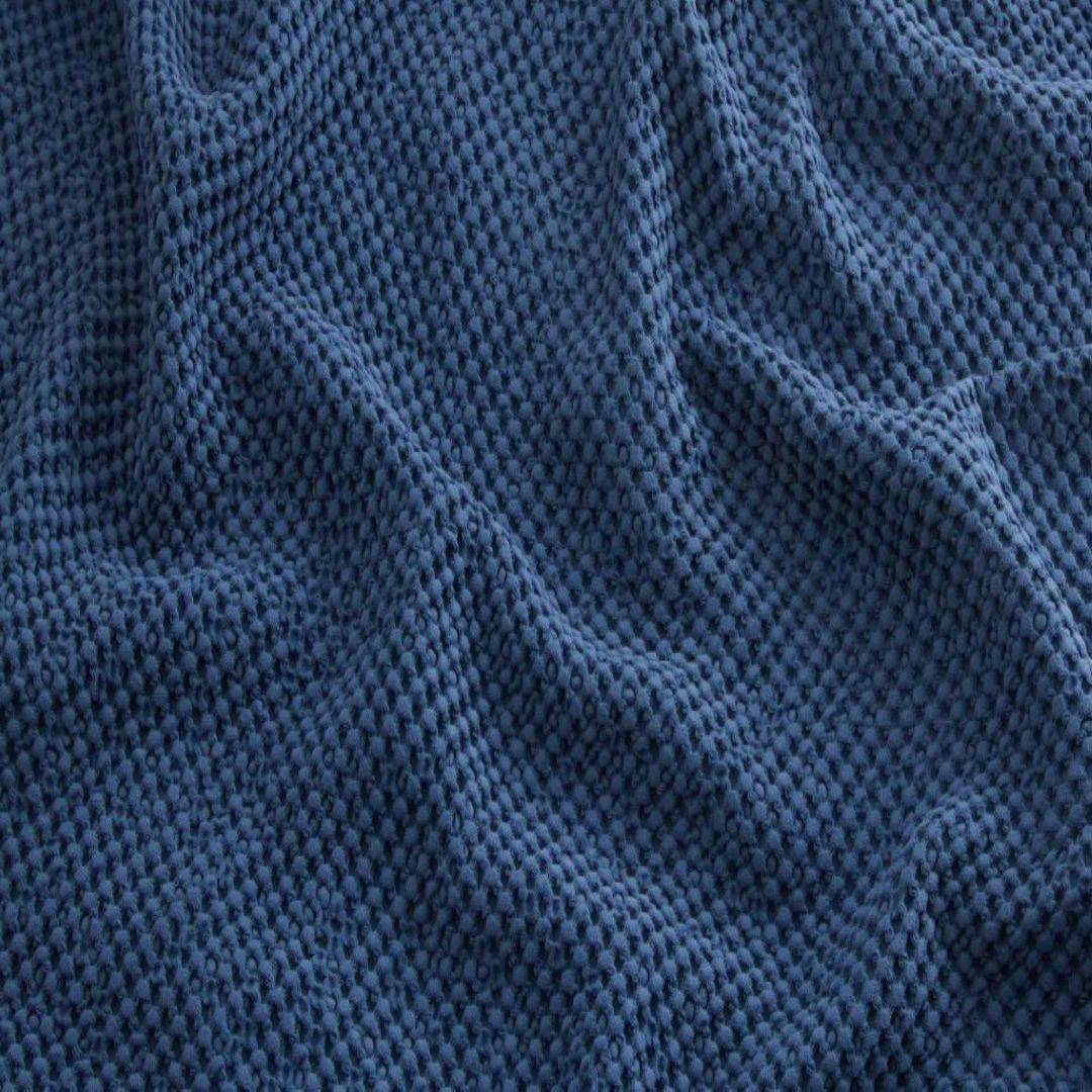 Baksana - New Bliss Stonewashed Throw/Blanket/ Eurocase - Navy image 0