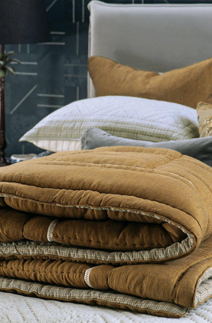 Bianca Lorenne - Luchesi Comforter/ Eurocase /Cushion - Dark Ochre image 1