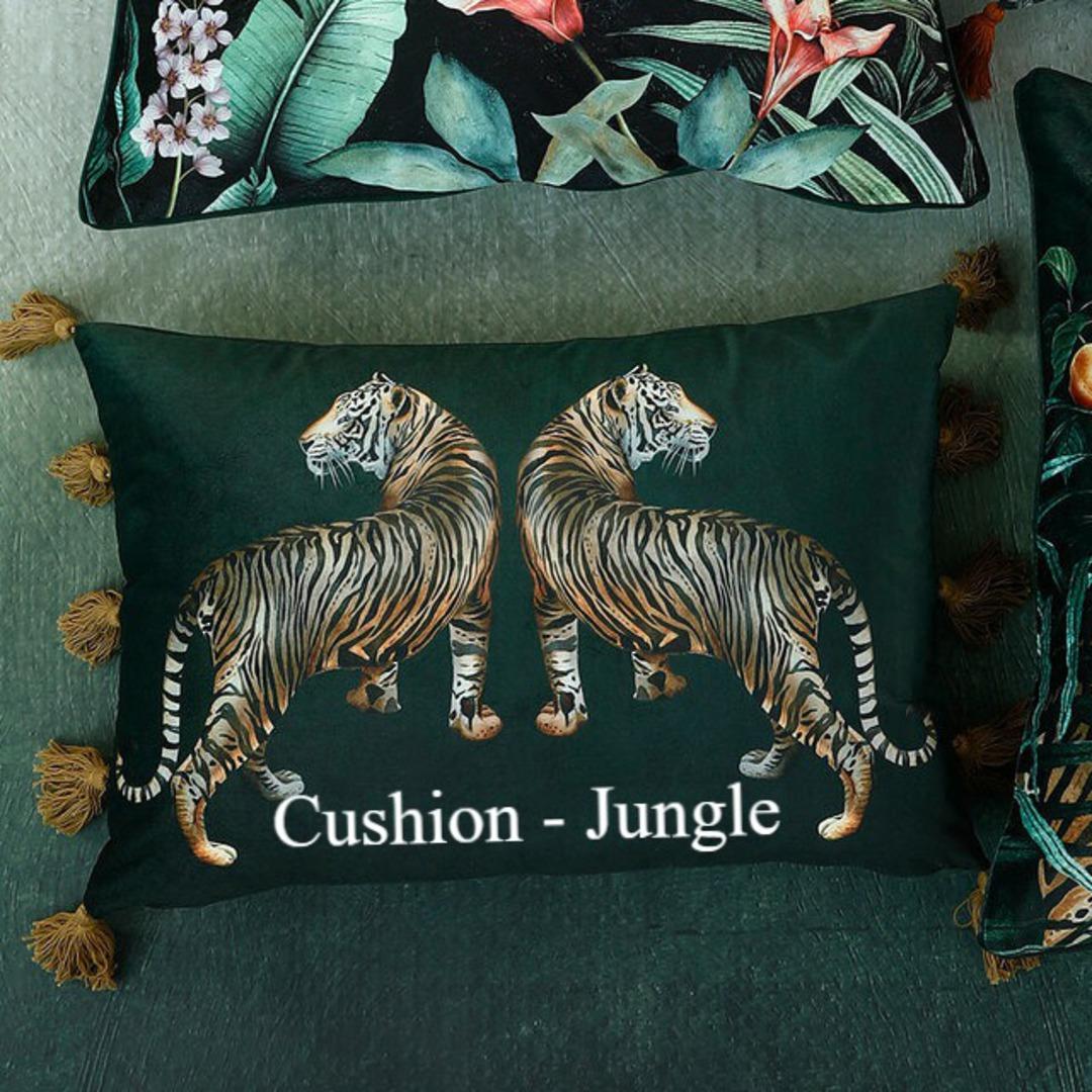 MM Linen - Avalana - Caspian Cushion - Jungle image 0