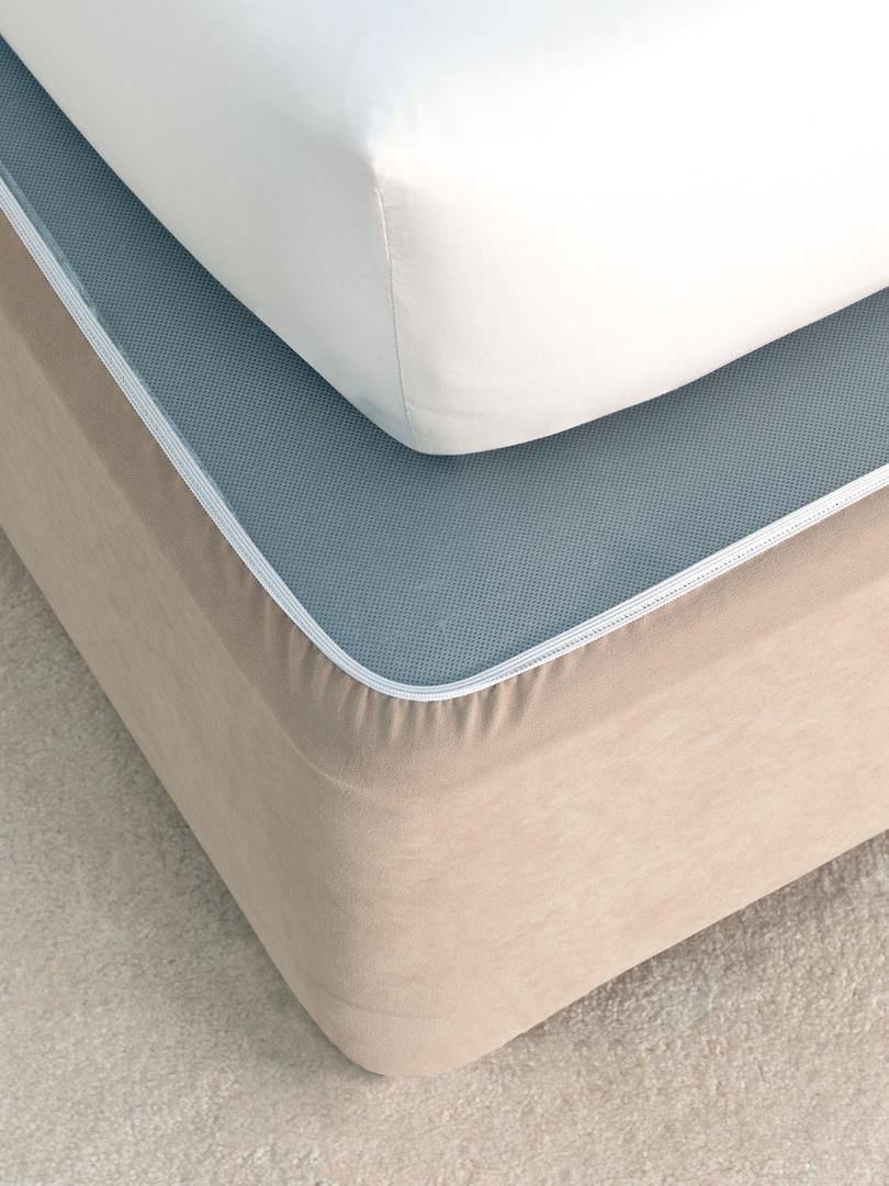 Linen House - Savona Plain Suede Bedwrap - Linen image 0