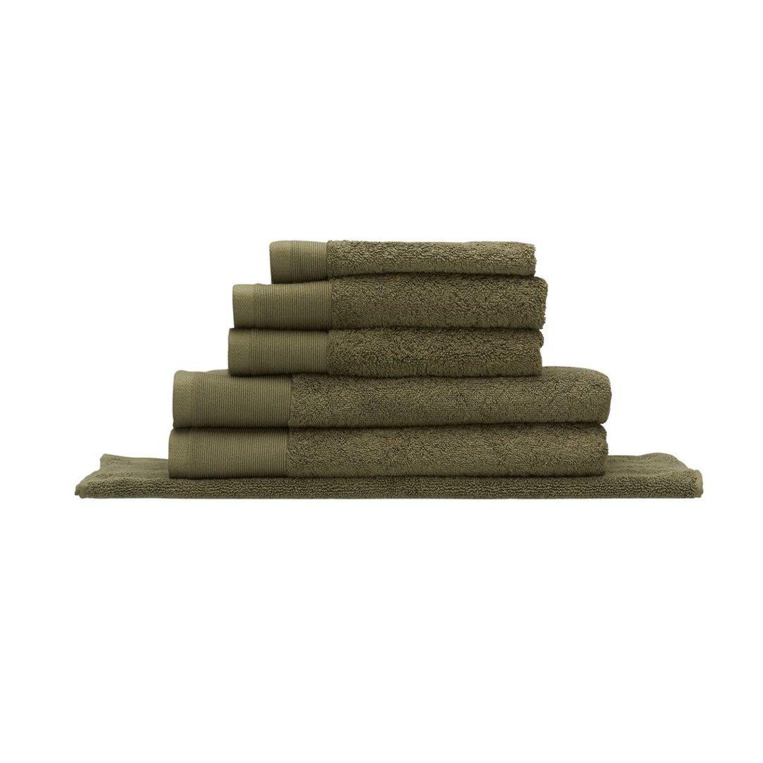 Seneca - Vida Organic Towels, Face Clothes, Hand Towels, Bath Mats - Olive image 0