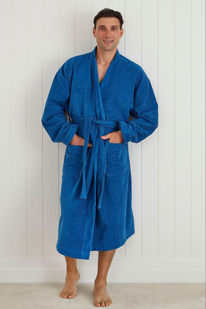 Baksana - Men's Fabian Robe - Blue image 0