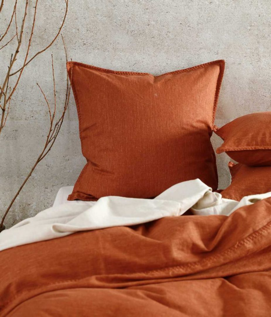 MM Linen - Stitch Duvet Set - Clay image 1