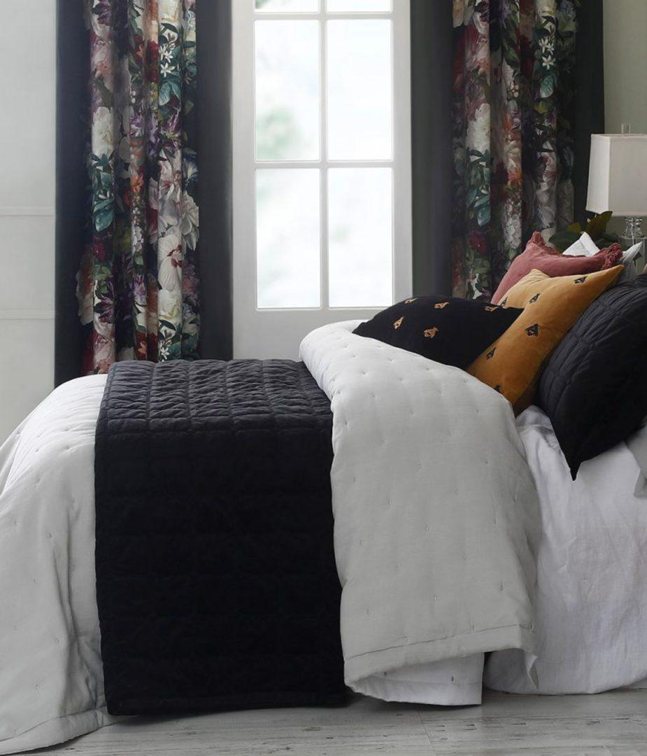 MM Linen - Meeka Ebony Quilted Comforter Set / Eurocase Set image 0