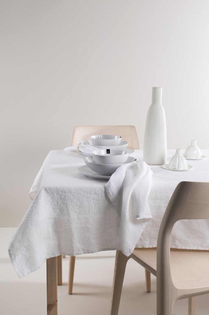 Importico - Himla Napkins/Table Runner/Tablecloths - White image 0