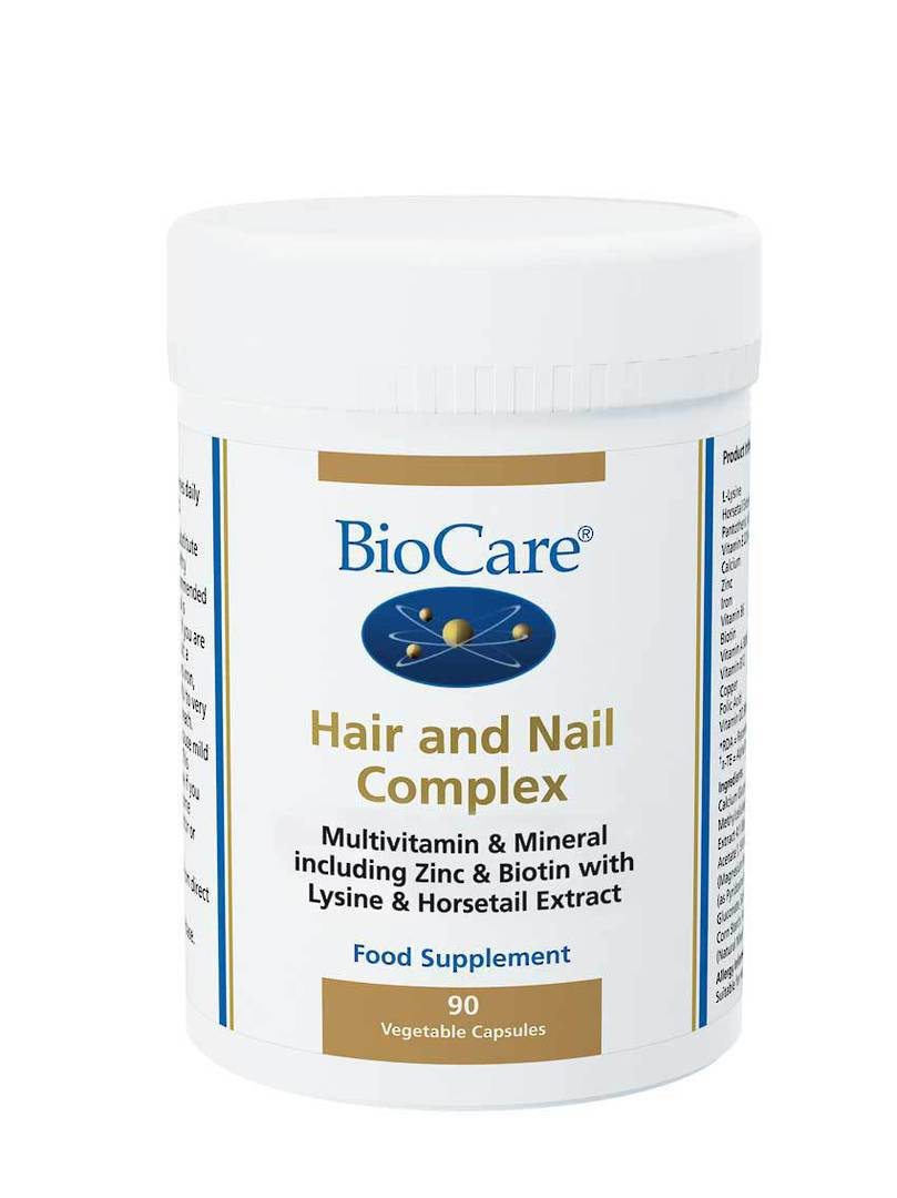 Biocare Hair and Nail Complex, 90 Capsules image 0