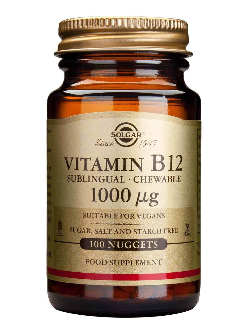 Solgar Vitamin B12, sublingual chewable (100 Nuggets) Practitioner Product image 0