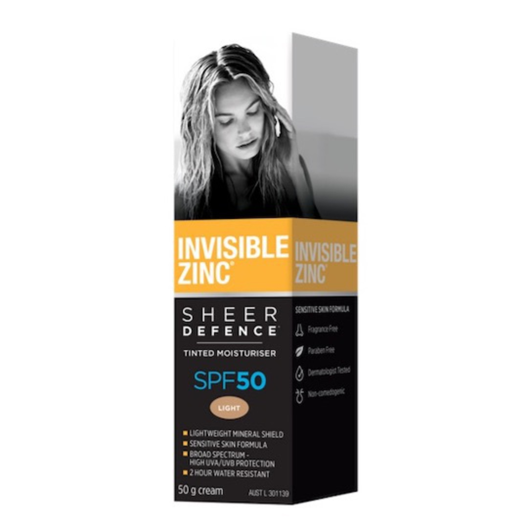 Invisible Zinc Sheer Defence Tinted Moisturiser SPF50, 50g image 0