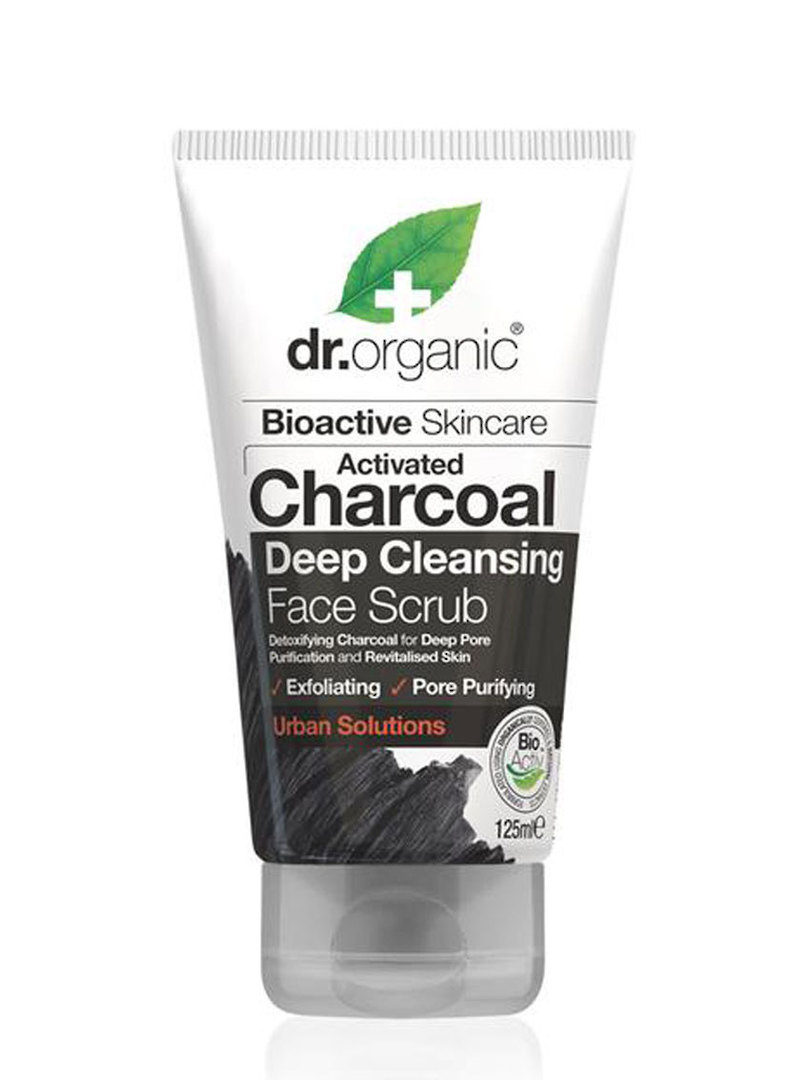 Dr. Organic Charcoal Deep Cleansing Face Scrub, 125ml image 0