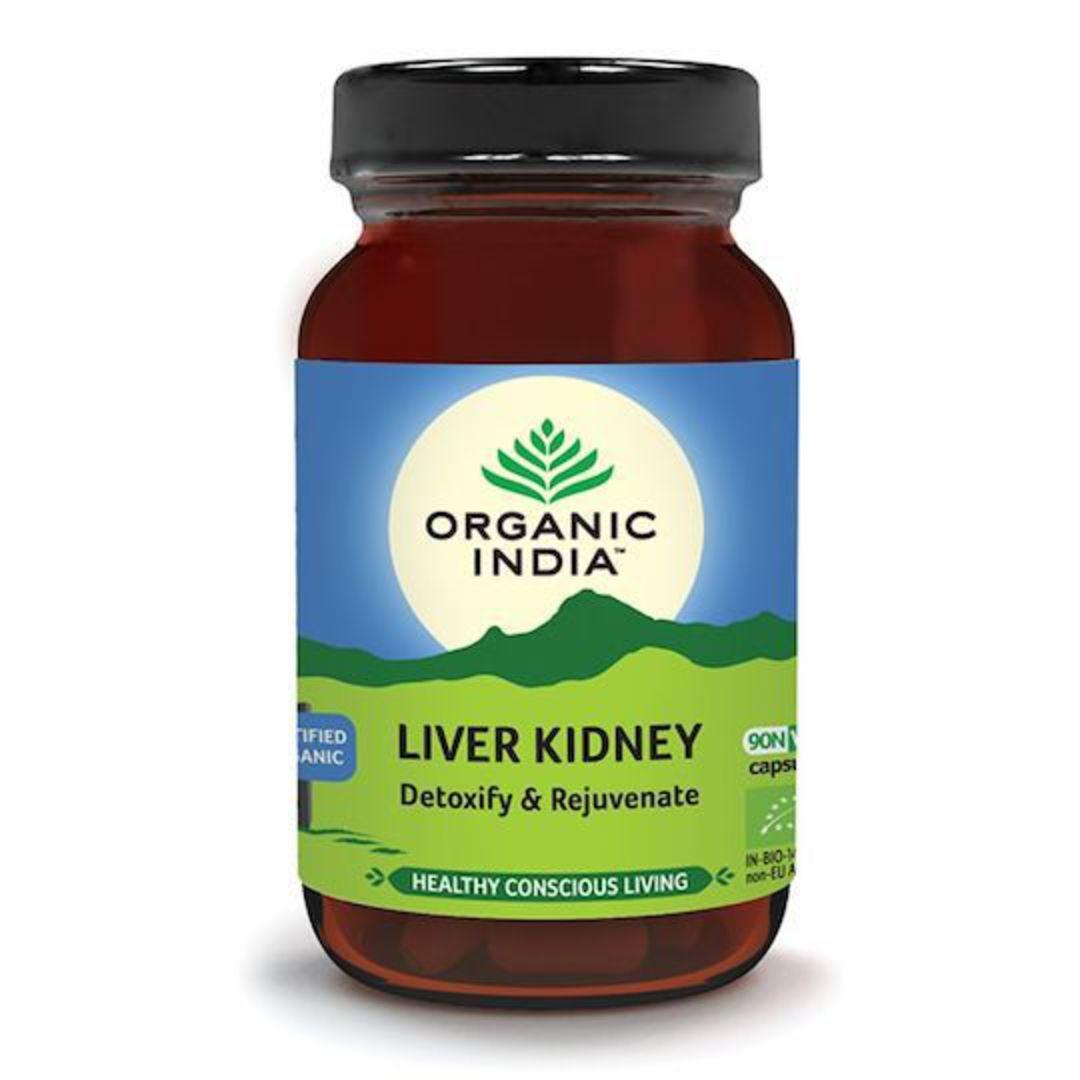 Organic India Liver Kidney Formula, 90 Capsules image 0