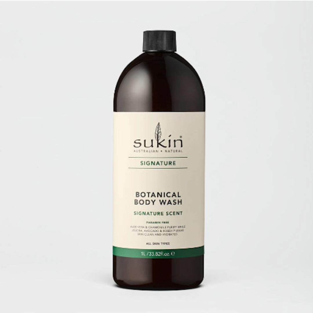 Sukin Organics Botanical Body Wash, 1L Pump or Refill image 1
