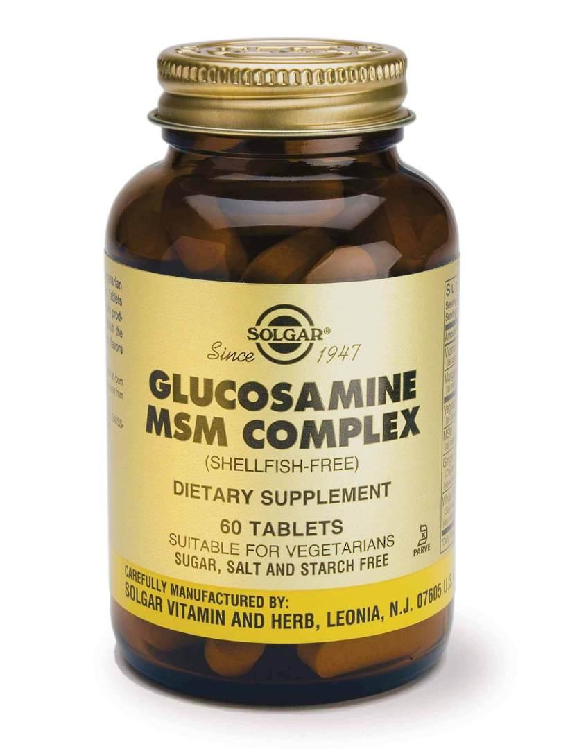 Solgar Glucosamine MSM Complex - 60 Tablets (shellfish free) 9best before end 12/20) image 0