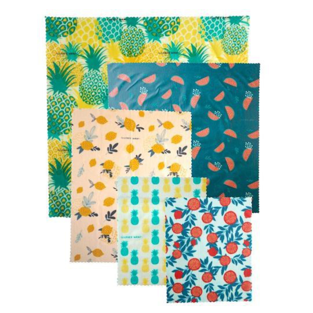 LilyBee Wrap Family Pack - set of 5 (Fruity Friends) with FREE single wrap image 0