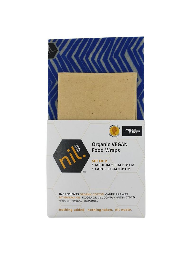 nil VEGAN organic food wraps, Blue range, 2Pack image 1