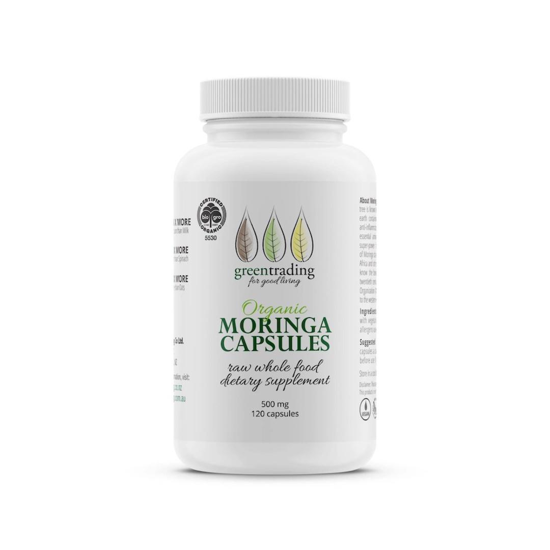 Green Trading Organic Moringa Capsules (500mg), 120 Capsules image 0