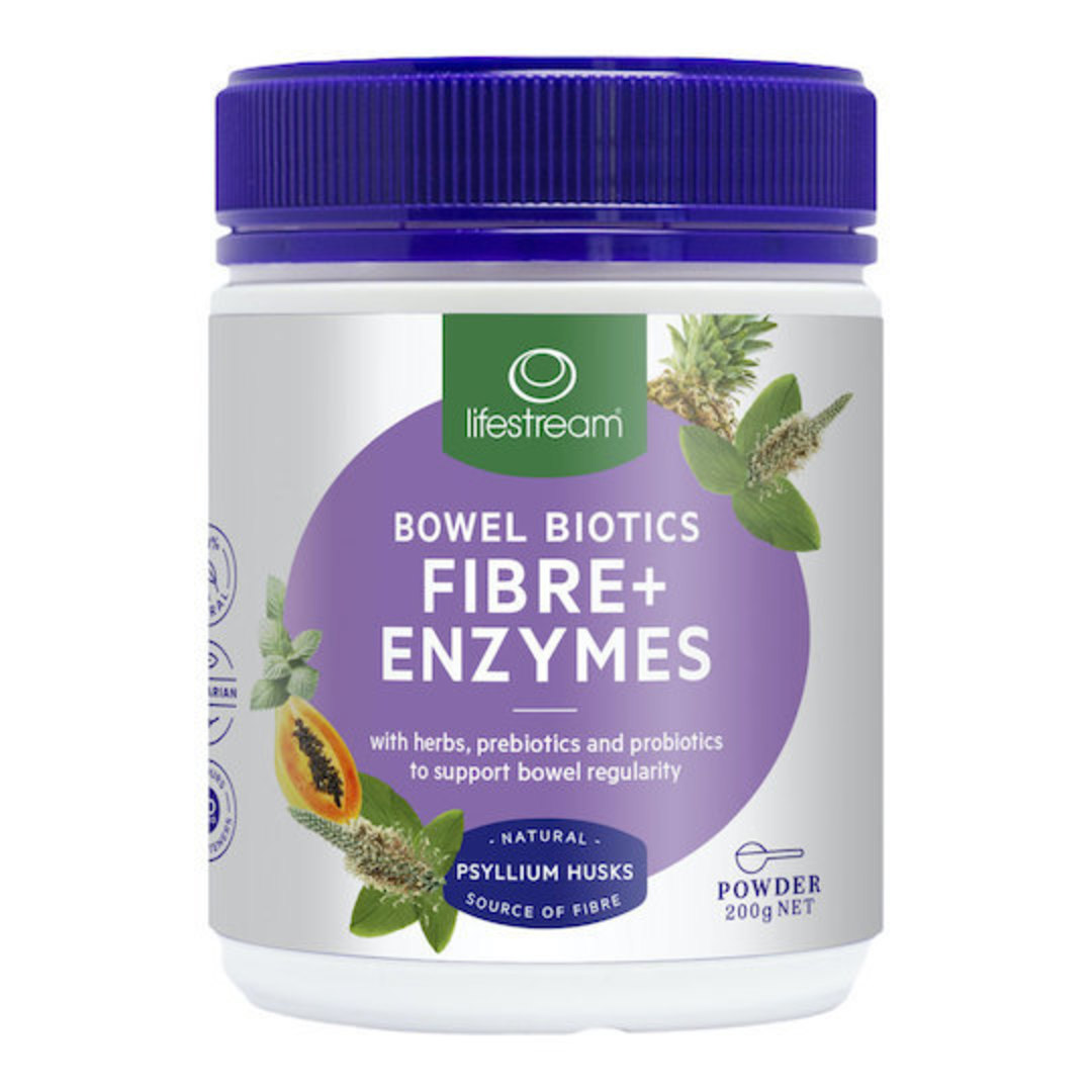Lifestream Bowel Biotics Fibre + Enzymes, Powder image 0