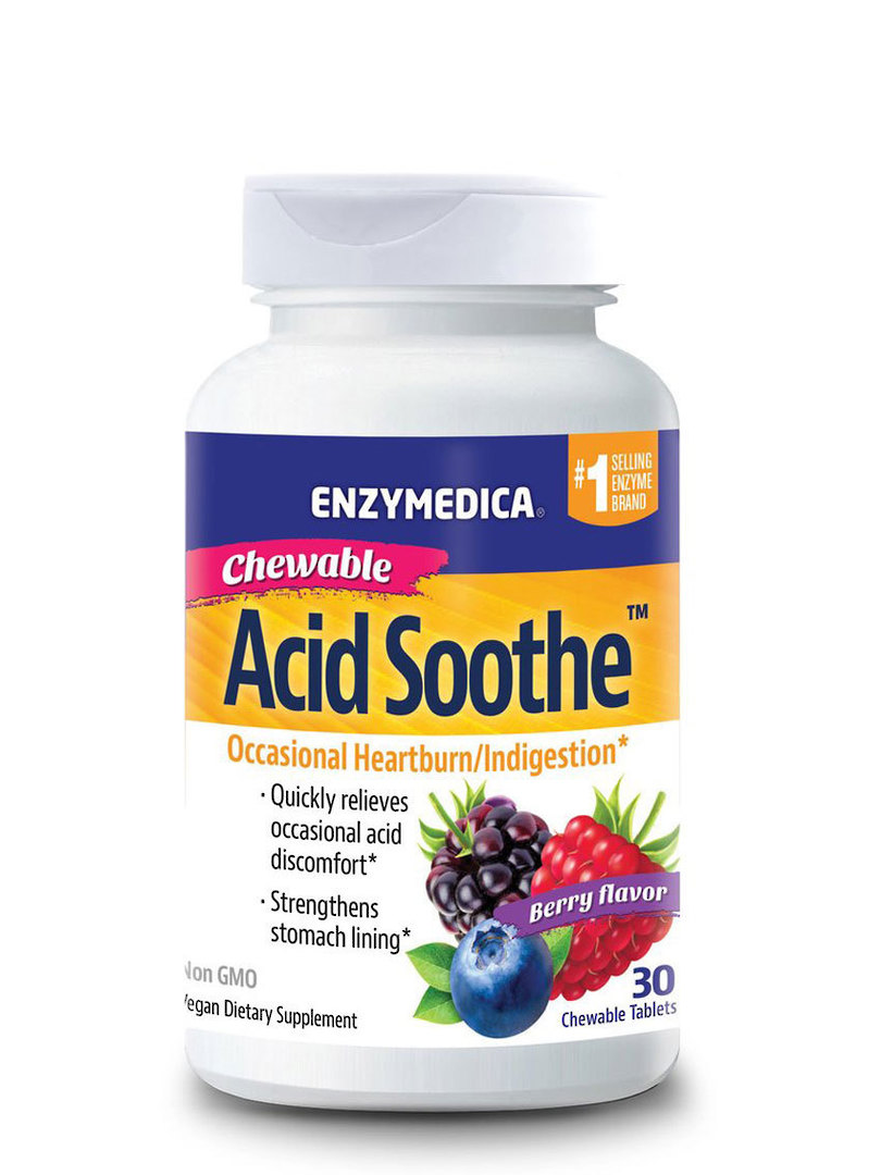 Enzymedica Acid Soothe Chewable Tablets image 0