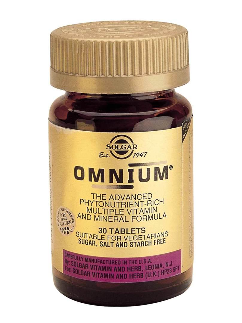 Solgar Omnium Multi-Nutrient, 30 & 90 Tablets image 0