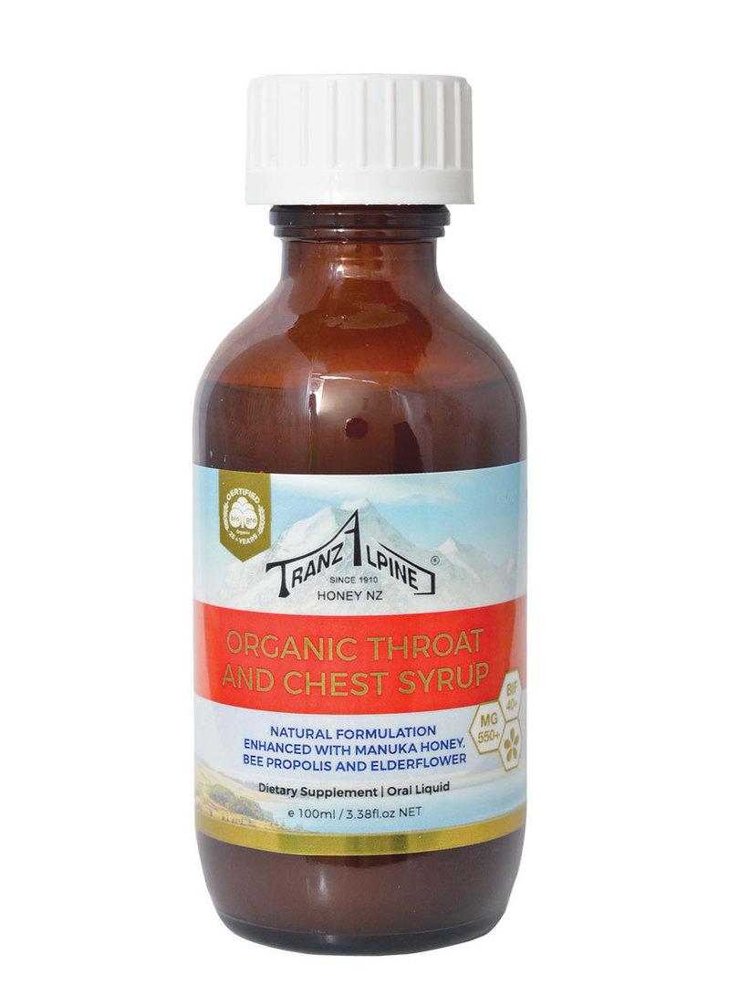 Tranzalpine Organic Manuka Honey Throat and Chest Syrup image 0