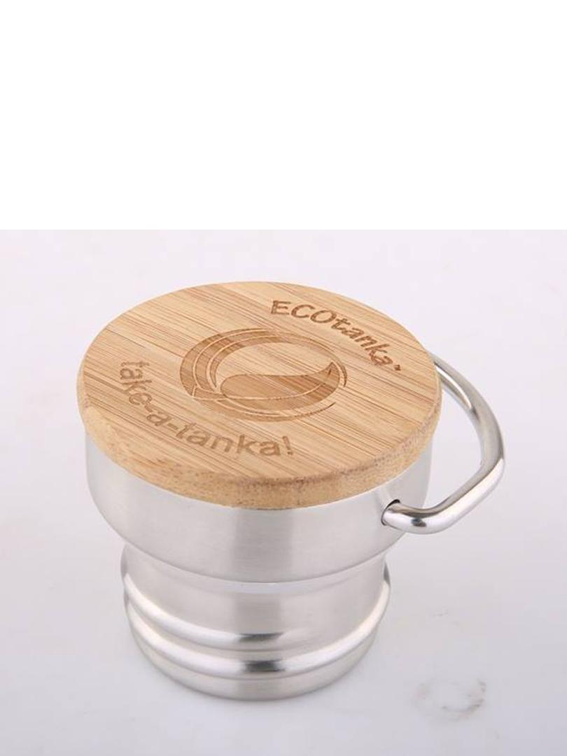 ECOtanka Bamboo & Stainless Steel Flat Lid image 0