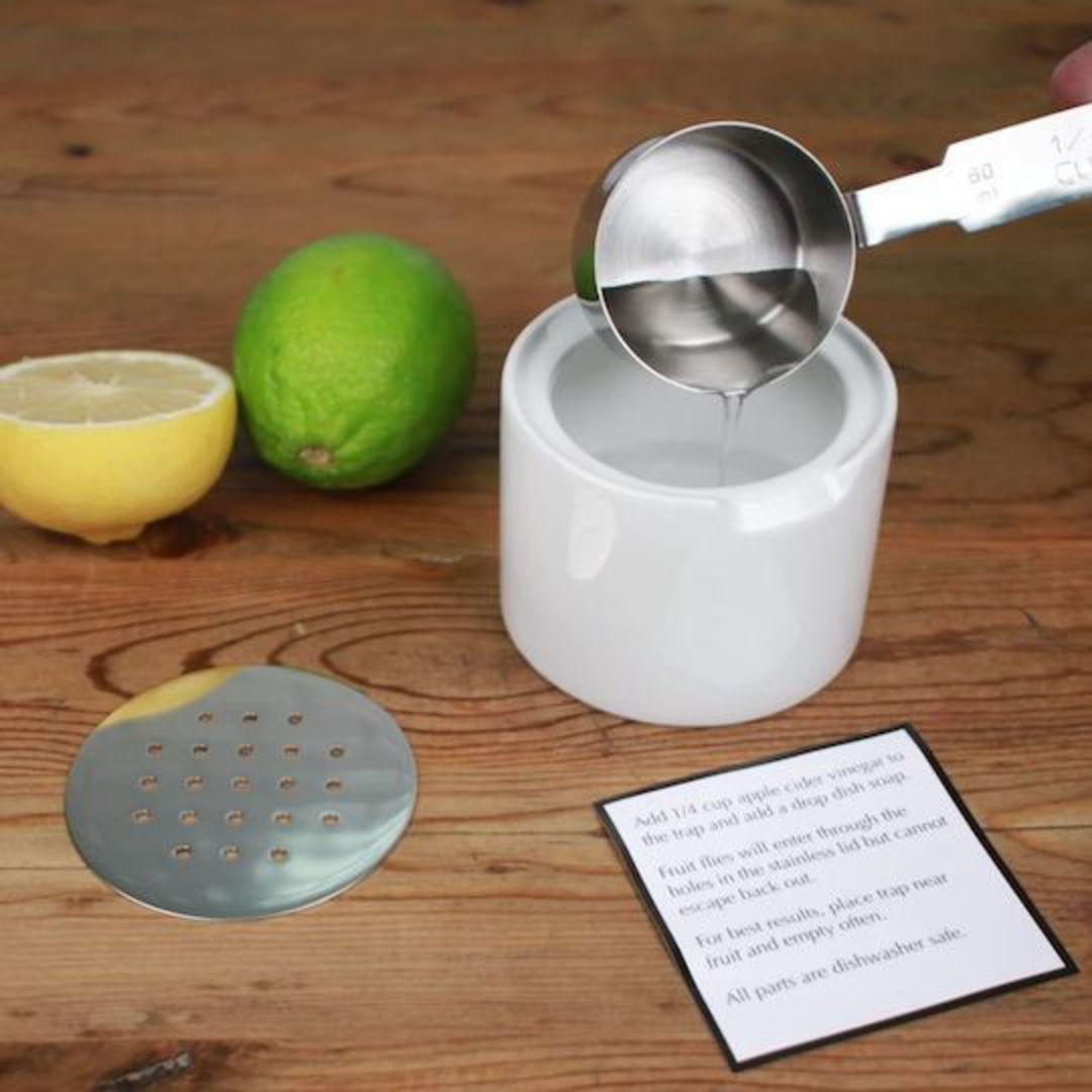 RSVP Endurance Fruit Fly Trap, ceramic/stainless steel image 2