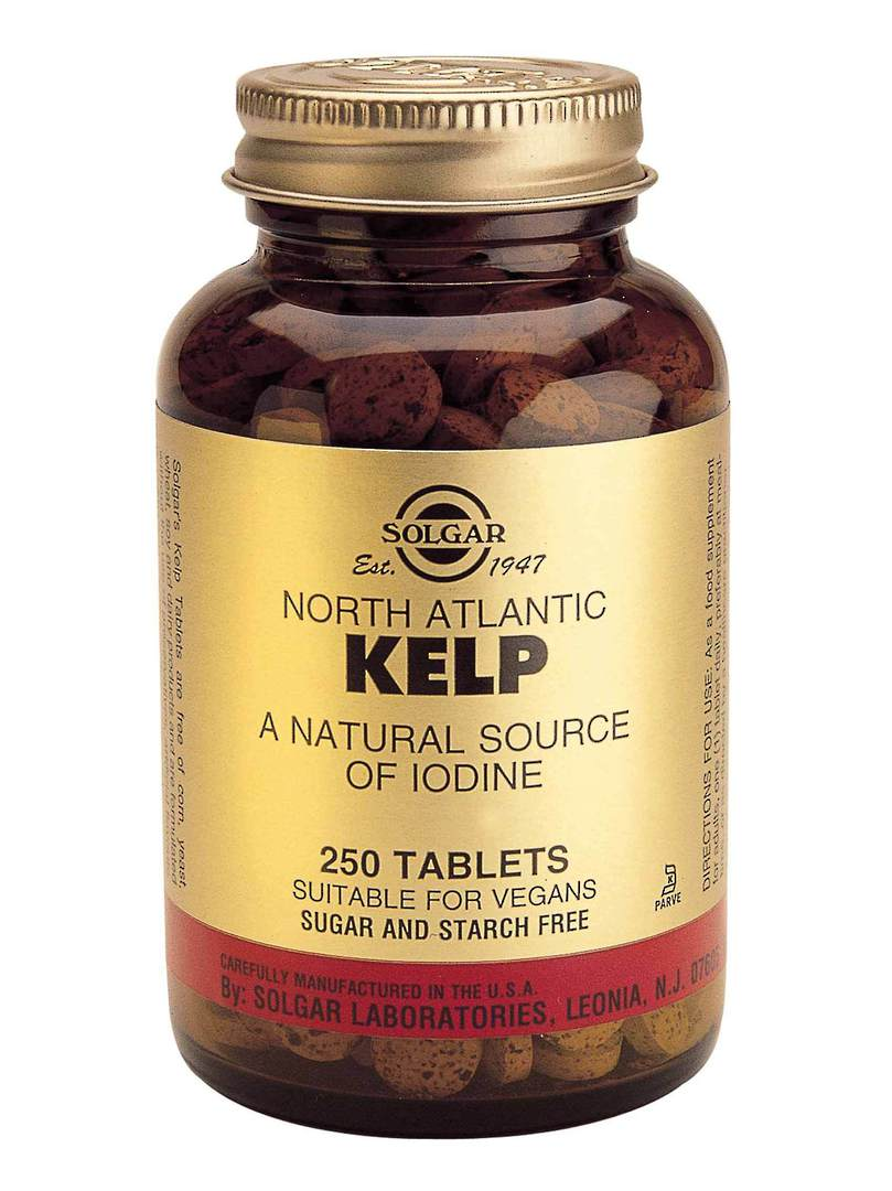 Solgar Kelp (Iodine) (250 Tablets) image 0
