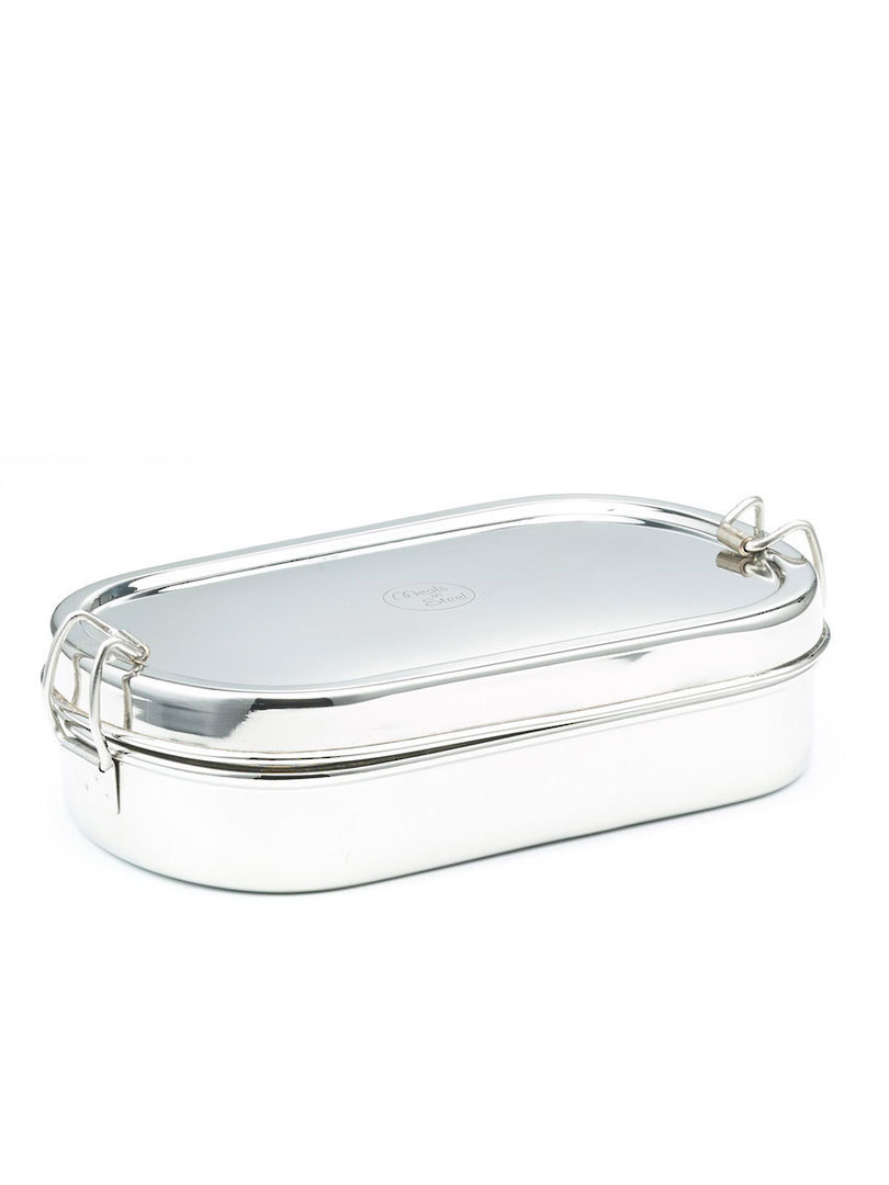 Meals in Steel Medium Oval Lunchbox + snack box image 0