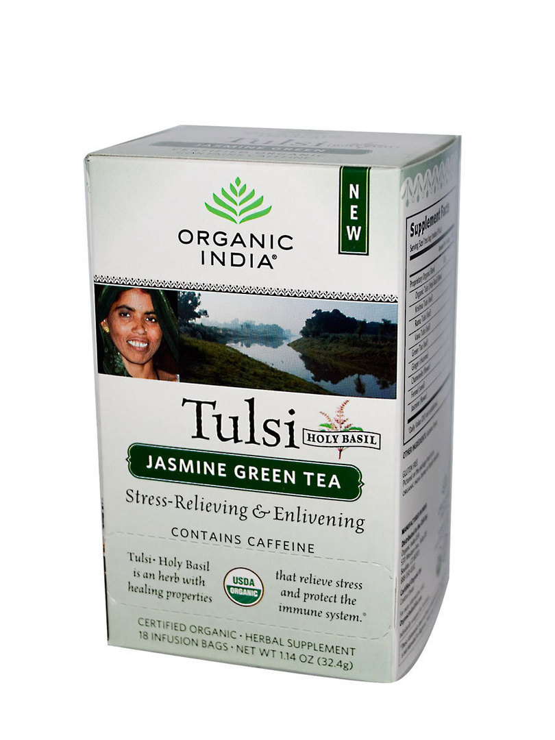 Organic India Tulsi Jasmine Green, 25 tea bags (best before end 9/20) image 0