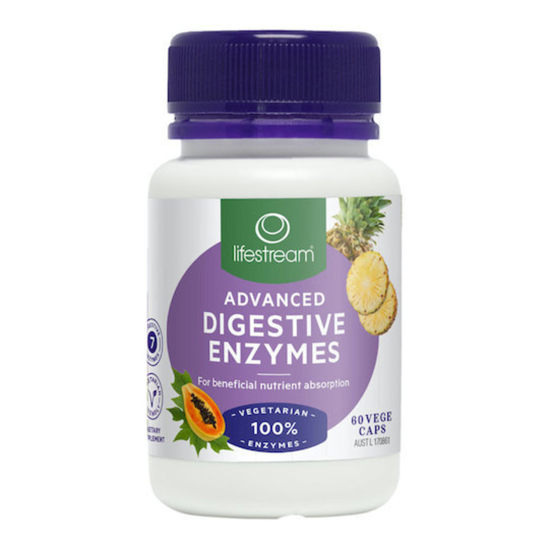 Lifestream Advanced Digestive Enzymes, 60 or 180 Capsules image 0