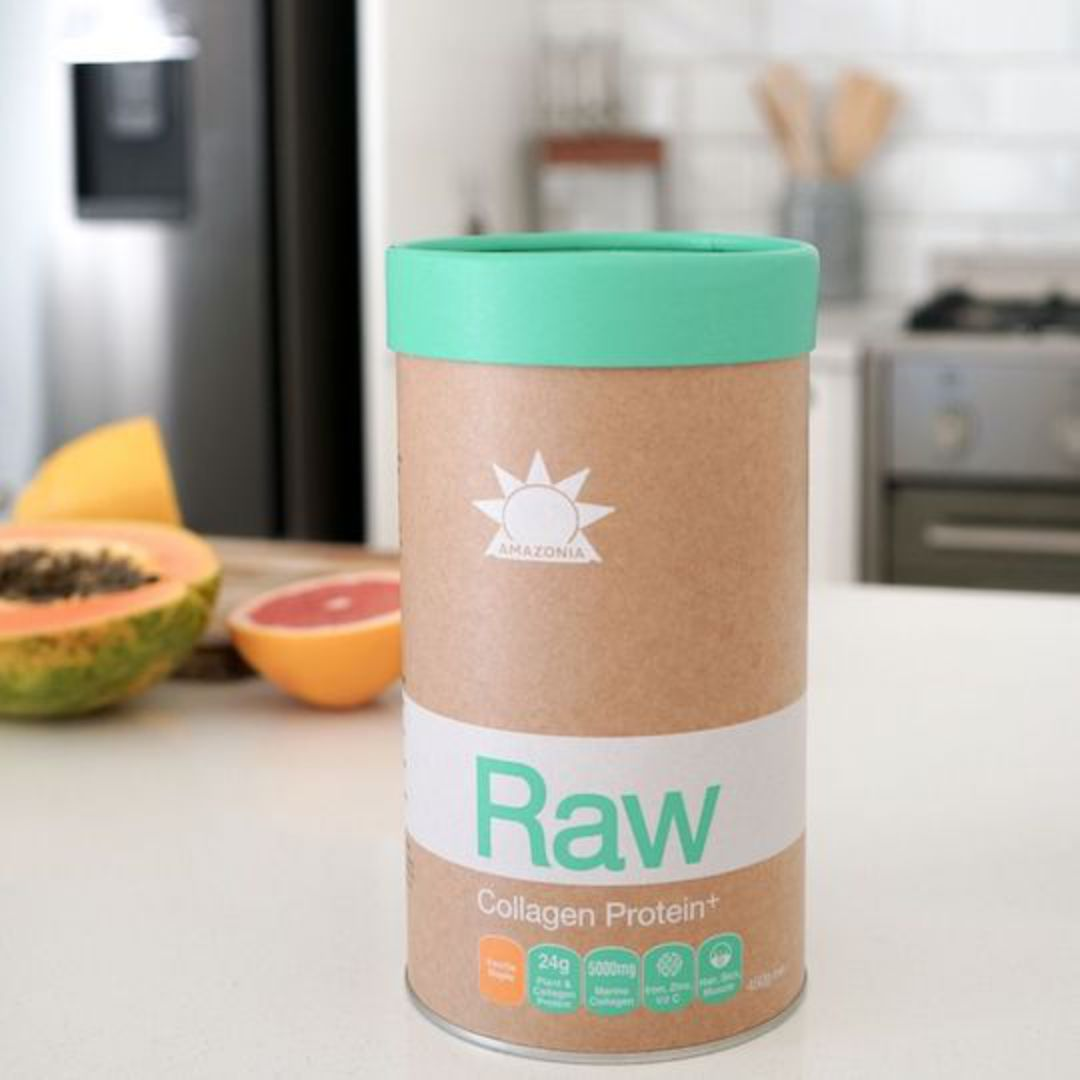 Amazonia Raw Collagen Protein+, 450g (Vanilla Maple) image 1