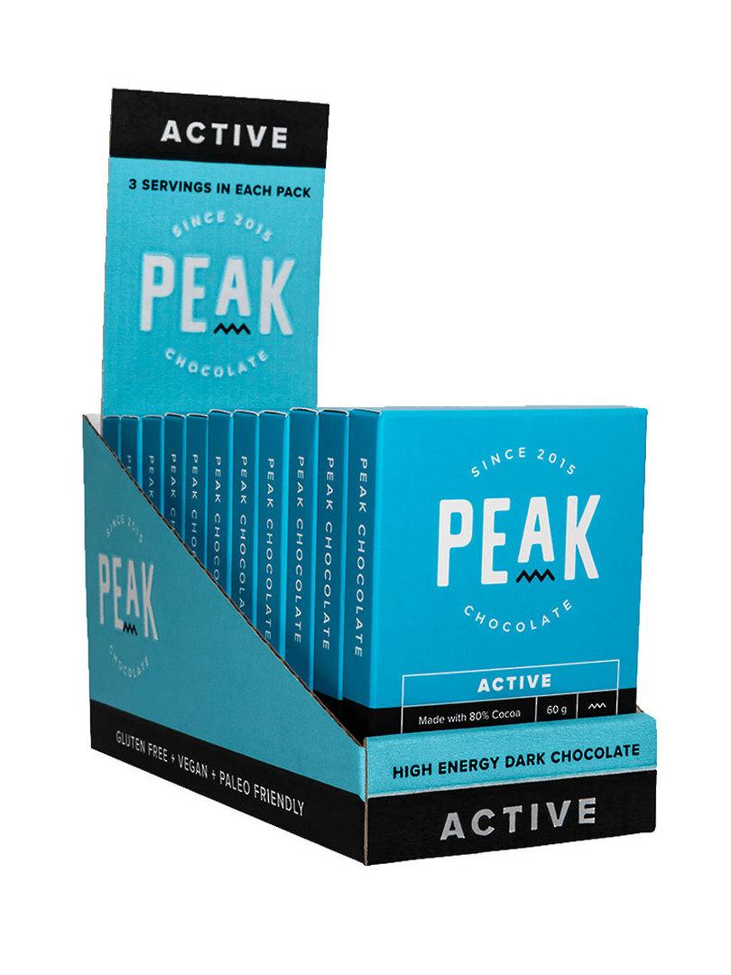 Peak Chocolate Active, 12 pack image 0
