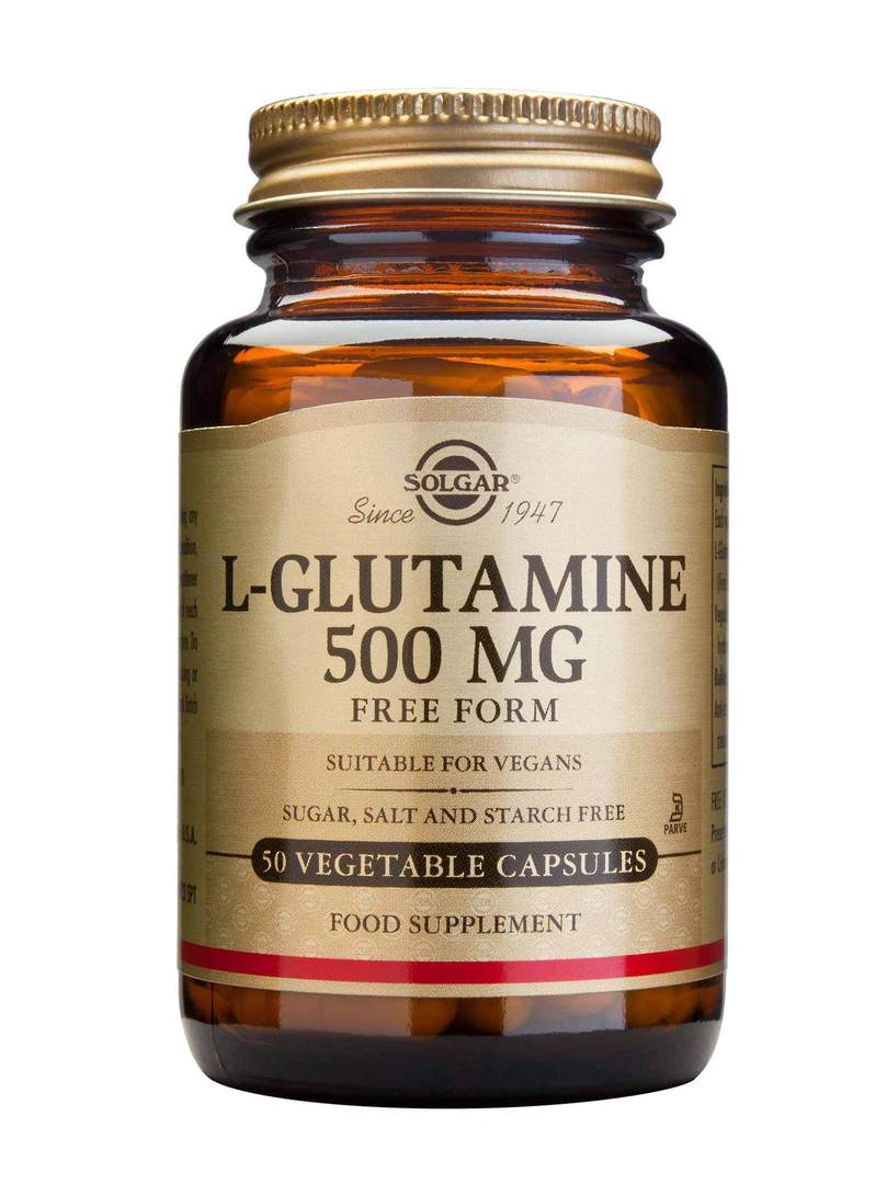 Solgar L-Glutamine 500mg, 50 Vegetable Capsules image 0