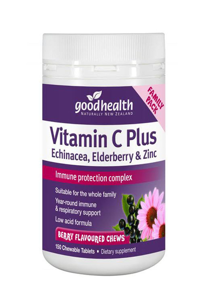 Good Health Vitamin C Plus Echinacea, Elderberry and Zinc, 150 Chewable Tablets image 0