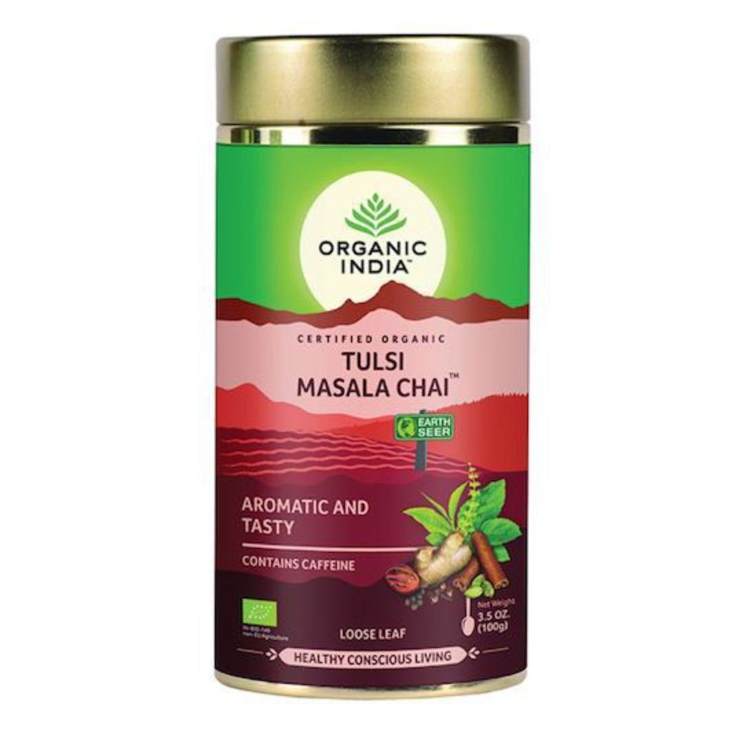 Organic India Tulsi Masala Chai, 100g loose leaf tea image 0