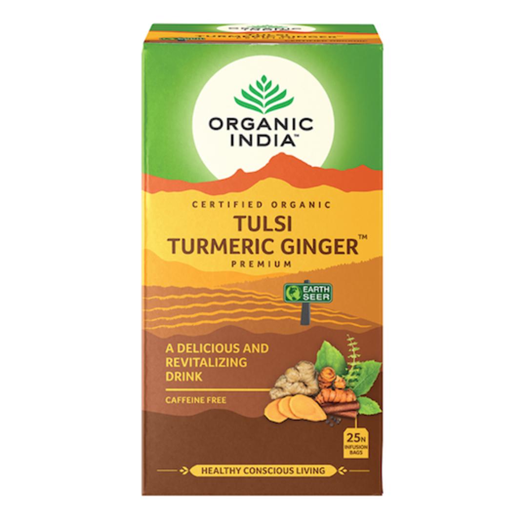 Organic India Tulsi Turmeric Ginger, 25 tea bags image 0