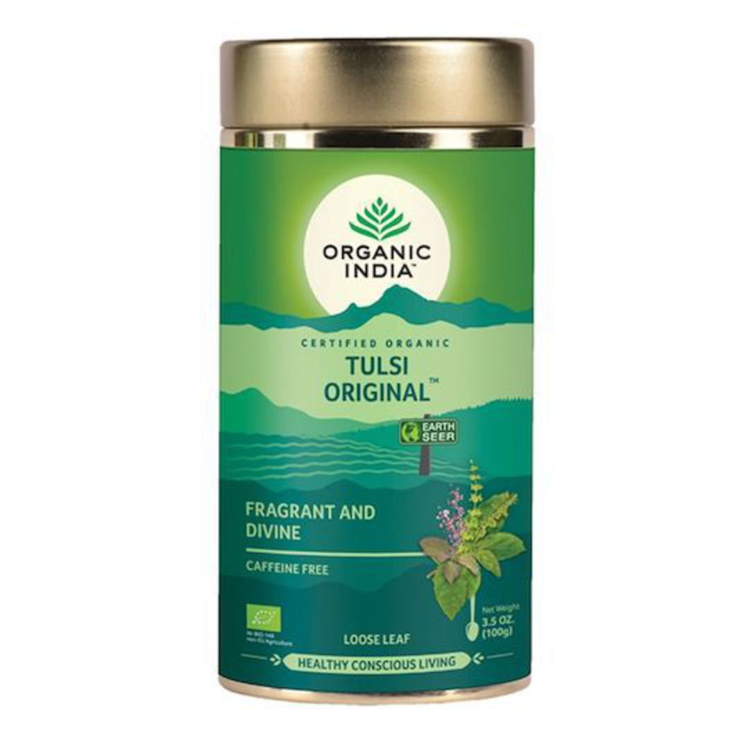 Organic India Tulsi Original, 100g loose leaf tea image 0