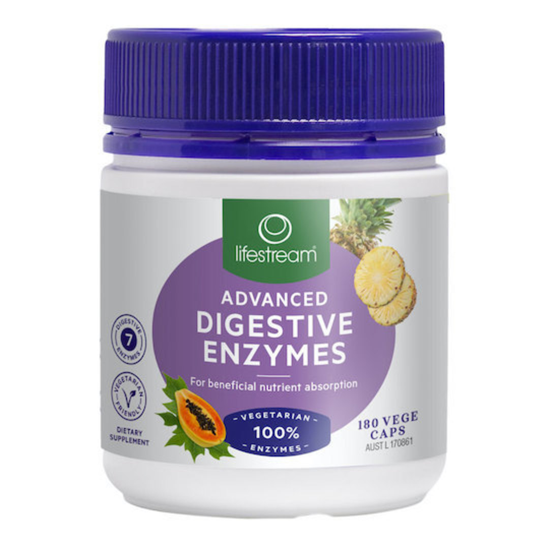 Lifestream Advanced Digestive Enzymes, 60 or 180 Capsules image 1