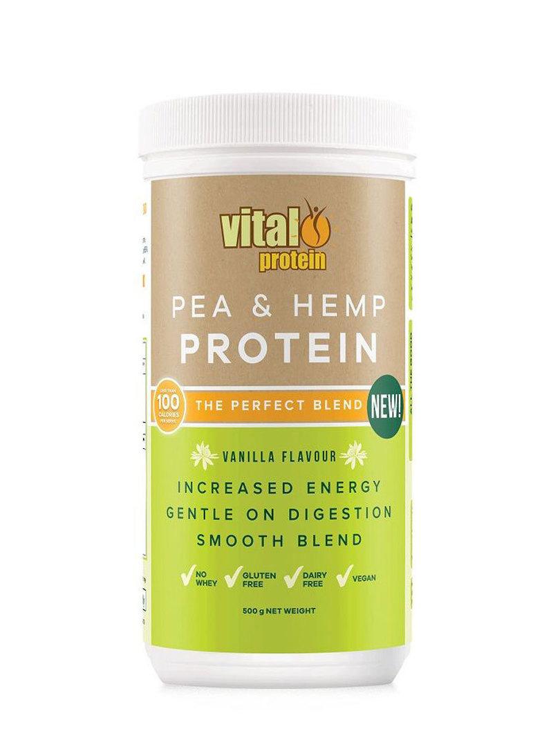 Vital Pea and Hemp Protein Powder, Vanilla 500g image 0