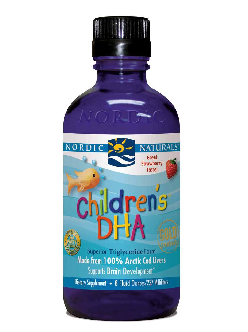 Nordic Naturals Children's DHA (strawberry flavoured liquid) image 0