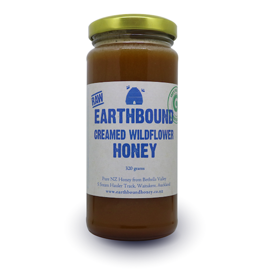 Earthbound Creamed Wildflower Honey, 320g image 0