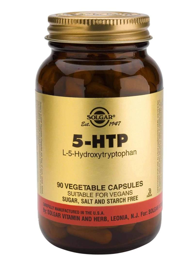 Solgar 5-HTP (L-5-Hydroxytryptophan) Complex Vegetable, 30 & 90 Capsules image 0