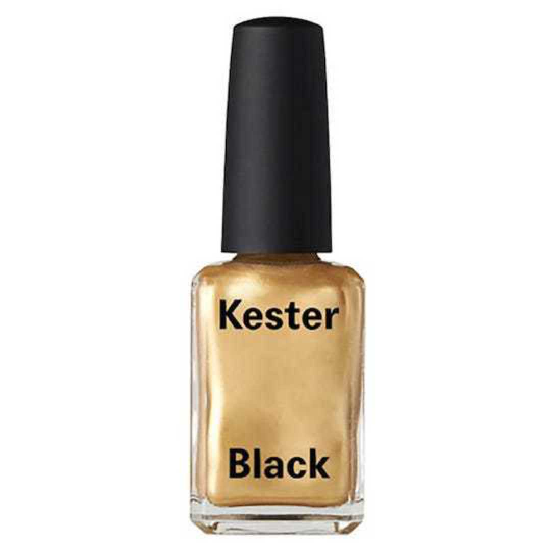 Kester Black Nail Polish Frizzy Logic - Metallic Gold, 15ml image 0