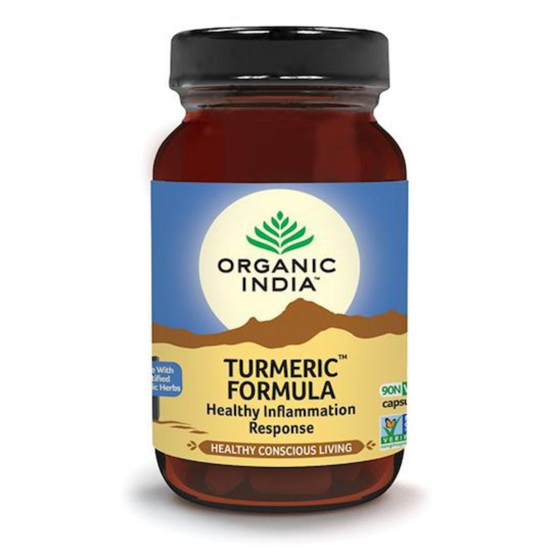 Organic India Turmeric Formula, 90 Capsules image 0