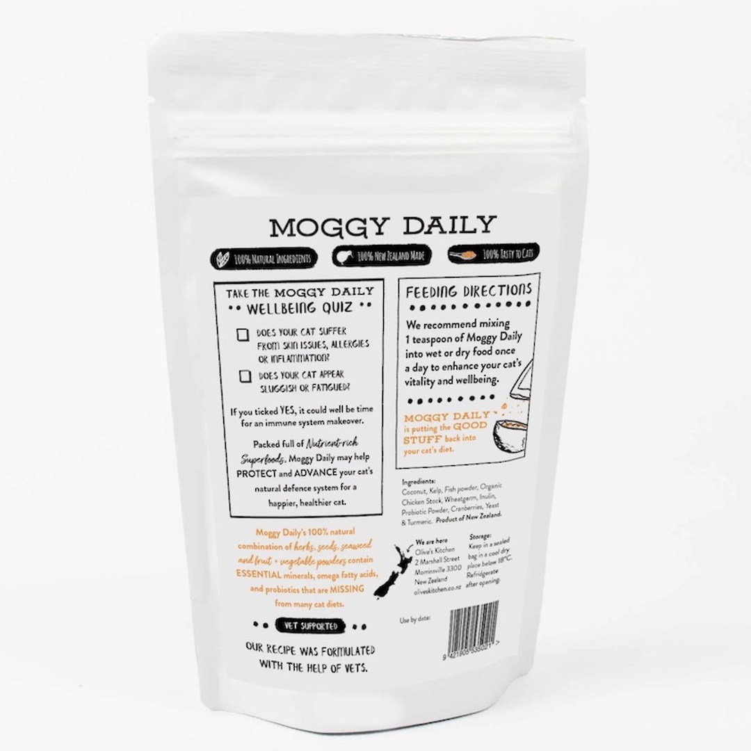 Olive's Kitchen Moggy Daily Superfood Nutritional Boost, 125g image 2