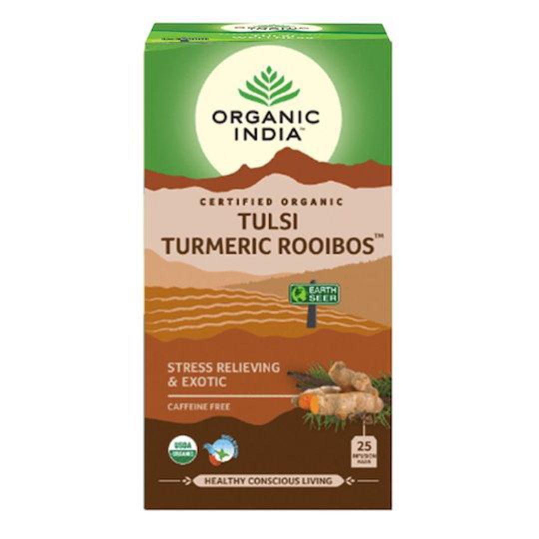Organic India Tulsi Turmeric Rooibos, 25 tea bags image 0
