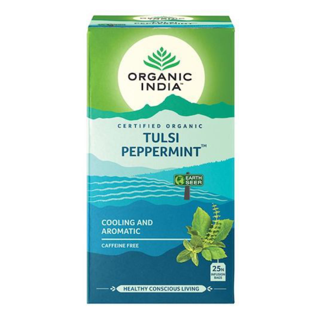 Organic India Tulsi Peppermint, 25 tea bags image 0